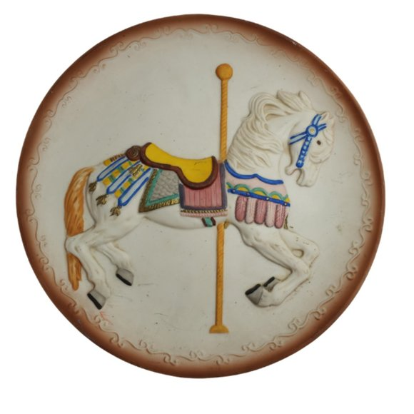 Vintage. 1986 Carousel 3D Horse Plate